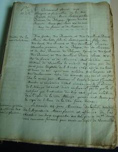 Première page du manuscrit